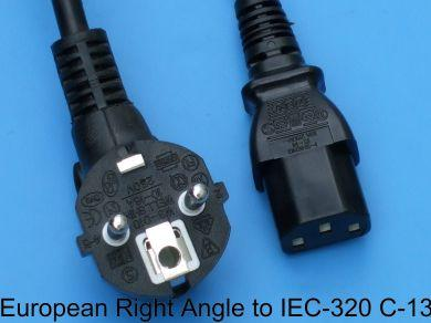 European Right Angle to IEC-320